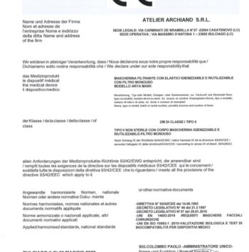 certificatoCE_Arya Mask